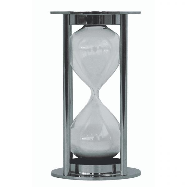 Horloge de sable de 15 min en alu argenté