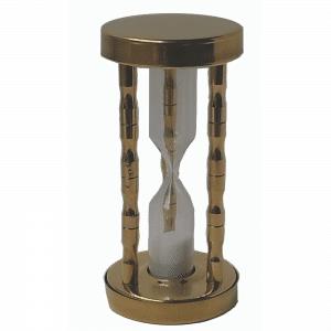 Horloge de sable de 3 min en alu doré