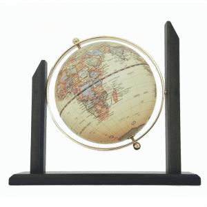 Mappemonde contemporaine avec support en bois