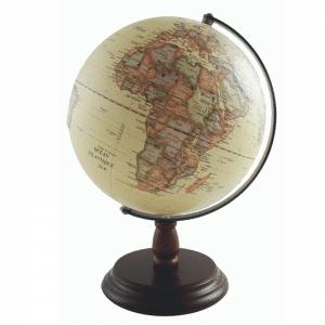 Mappemonde en relief avec socle en bois