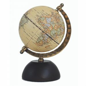 Mappemonde contemporaine avec socle en bois