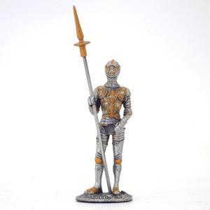 Figurine - Cavalier en armure avec son javelot