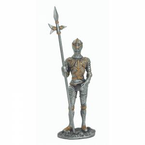 Figurine - Cavalier en armure avec sa hallebarde
