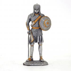 Figurine - Cavalier en armure avec son bouclier rond