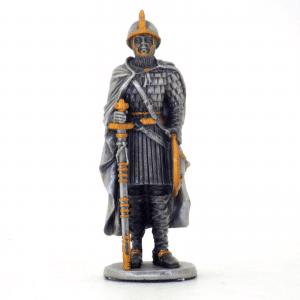 Figurine - Cavalier croisé avec son épée