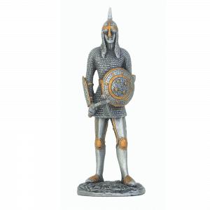 Figurine - Cavalier avec son marteau tranchant et son bouclier