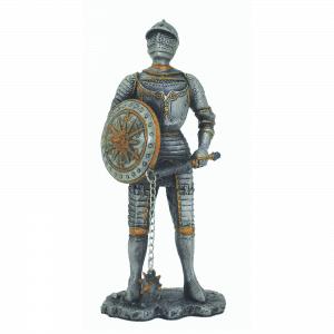 Figurine - Cavalier avec son fléau d'armes