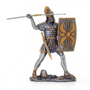 Figurine - Combattant romain avec son bouclier et son javelot