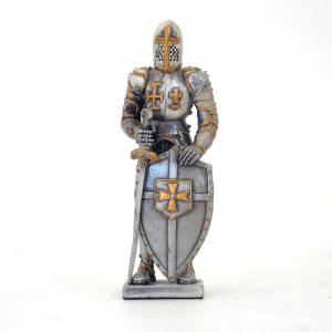 Figurine - Cavalier croisé avec son bouclier et son épée