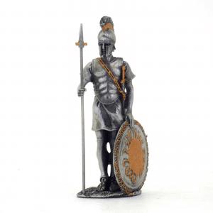 Figurine - Soldat grec avec son javelot et son bouclier