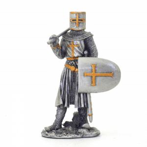 Figurine - Cavalier des Croisades avec hache et bouclier