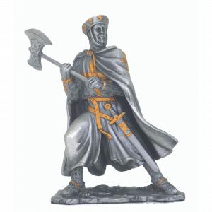 Figurine - Cavalier des Croisades avec une hache