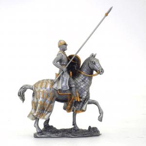 Figurine - Cavalier des Croisades avec son javelot