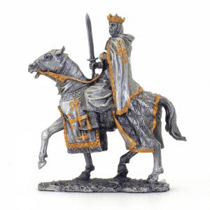 Figurine - Cavalier des Croisades avec bouclier