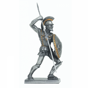 Figurine - Combattant spartiate à l'assaut avec son javelot