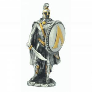 Figurine - Soldat spartiate et son bouclier rond