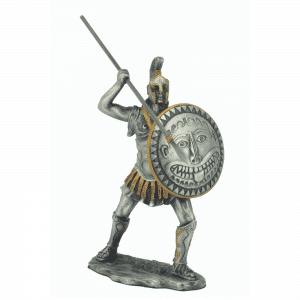 Figurine - Soldat spartiate à l'assaut avec son javelot