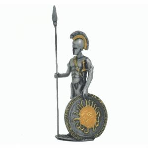 Figurine - Combattant grec avec son bouclier rond au repos