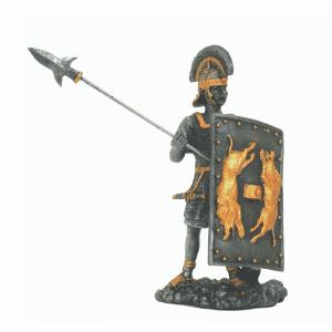 Figurine - Combattant de l'Empire romain avec son javelot et son bouclier