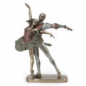 Sculpture miniature - Couple de danseurs sur Le Lac des Cygnes