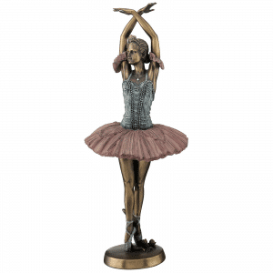Sculpture miniature - Danseuse étoile faisant un pas de bourrée couru