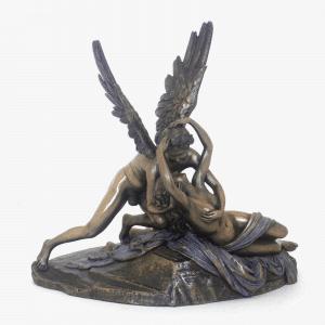 Sculpture miniature - Psyché ranimée par le baiser de l'Amour de Canova