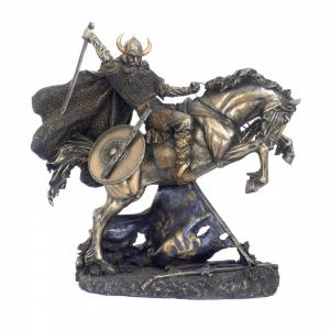 Figurine - Combattant viking sur son cheval