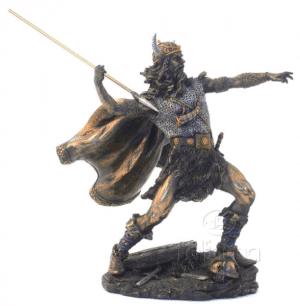 Figurine - Combattant viking équipé de sa lance