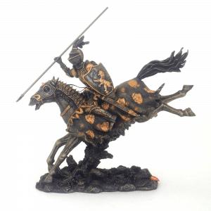 Figurine - Cavalier féodal équipé de sa lance