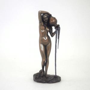 Sculpture miniature de l'oeuvre de l'artiste Ingres - La Source