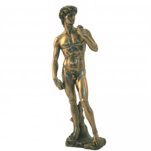 Sculpture miniature du David de l'artiste Michelangelo