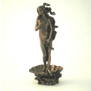 Sculpture miniature de la Vénus de l'artiste Botticelli