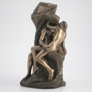 Sculpture miniature du Baiser de l'artiste Rodin