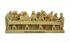 Sculpture miniature de l'oeuvre de L. De Vinci : La Cène
