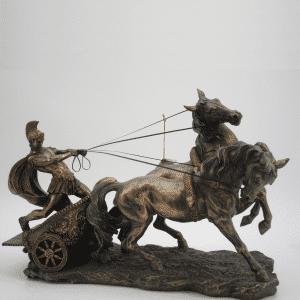 Grande figurine du prince juif Ben-Hur sur son chariot