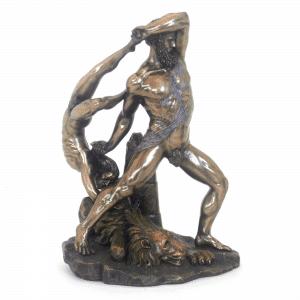 Sculpture miniature de la statue de Hercule et Lichas par Antonio Canova