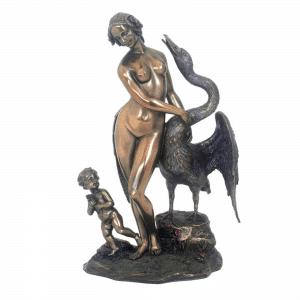Figurine de l'oeuvre de Léda et le cygne par Leonardo Da Vinci