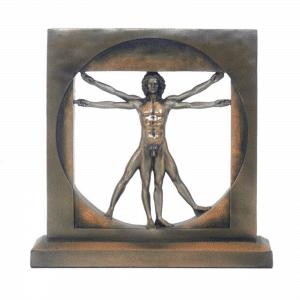 Figurine de L'homme de Vitruve par Leonardo Da Vinci