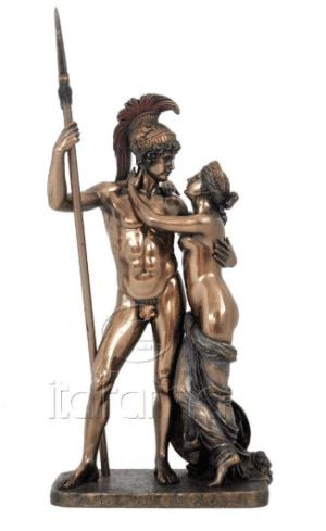 Sculpture miniature de Mars et Vénus par l'artiste Canova