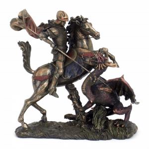 Figurine - Saint-Georges et le dragon