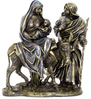 Figurine représentant La Fuite en Egypte et le massacre des Innocents