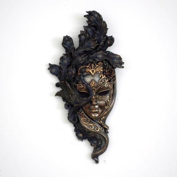 """Bibelot représentant un masque de Venis """"Peafowl"""""""