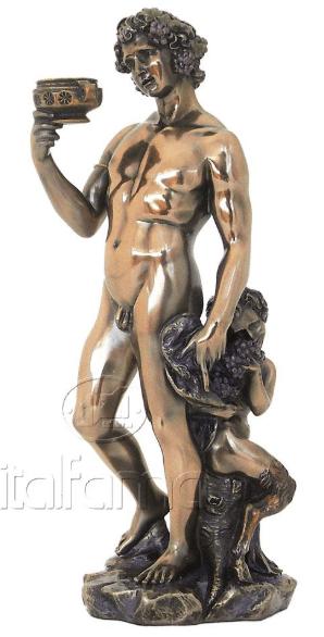 Sculpture miniature de Bacchus selon Michelangelo