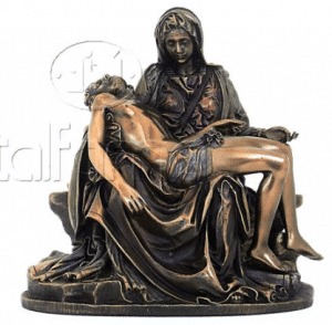 Sculpture miniature de la Pietà par Michelangelo