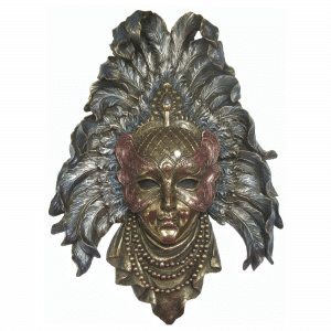 Figurine - Masque de Venise avec des plumes