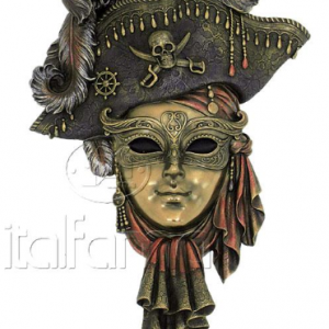 Figurine - Masque de Venise d'un pirate