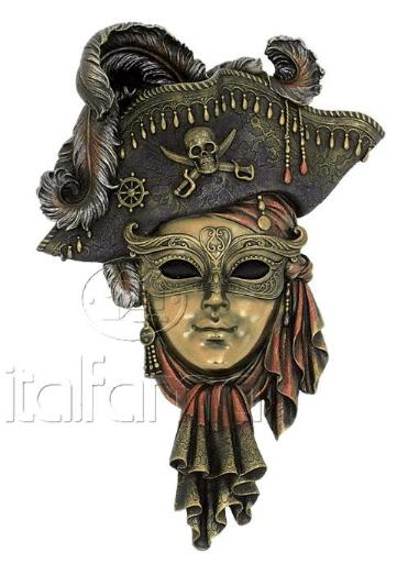 Figurine - Masque de Venise d'un pirate