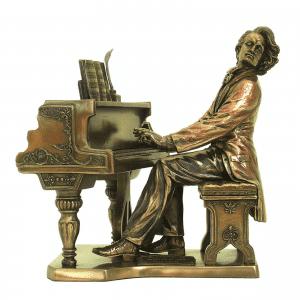 Figurine - Chopin sur son piano
