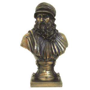 Figurine - Buste de Leonardo da Vinci