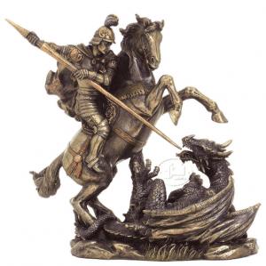 Figurine - Saint-Georges achevant le dragon